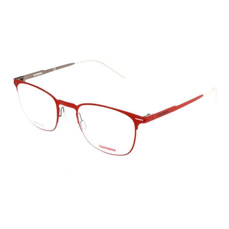 Men's CA6660-VZ4 Optical Frames // Matte Red + Dark Ruthenium