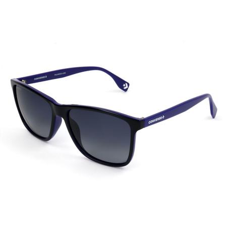 Men's Polarized SCO050Q-G75P Sunglasses // Dark Blue