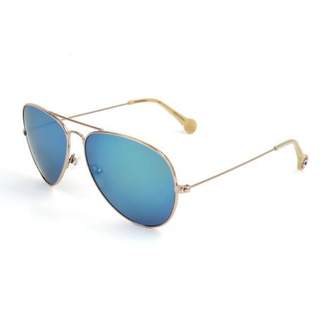 Men's SCO0885 Sunglasses // Gold + Blue