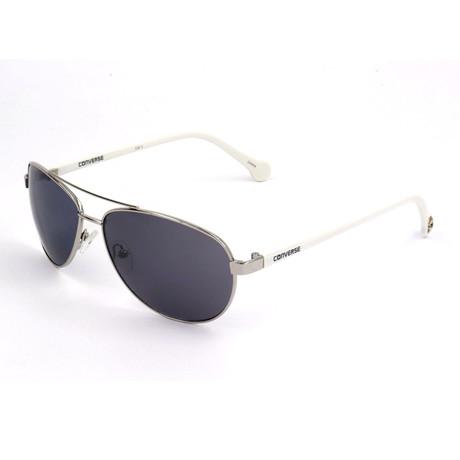 Men's SCO0905-SILV Sunglasses // Silver + White