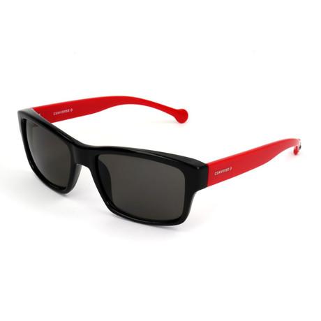 Men's SCO080Q Sunglasses // Black + Red