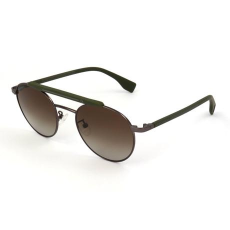 Men's SCO2255-627V Sunglasses // Matte Gun Metal + Olive Green