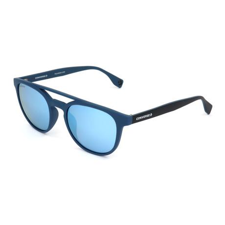 Men's Polarized SCO049Q-7A5B Sunglasses // Full Blue