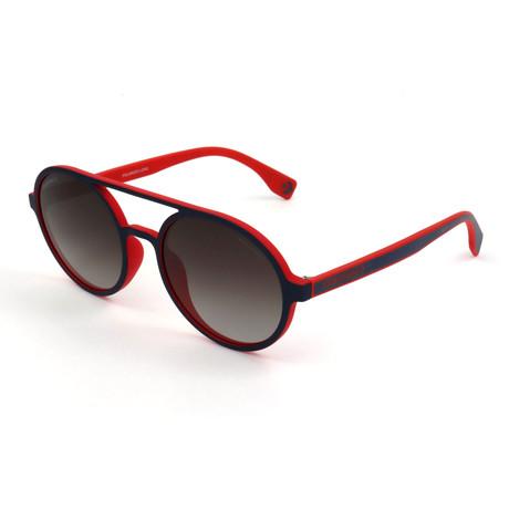 Men's Polarized SCO1925-92EP Sunglasses // Dark Navy + Red