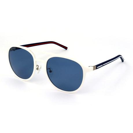 Men's Polarized SCO1455-6V6P Sunglasses // Rubberized White