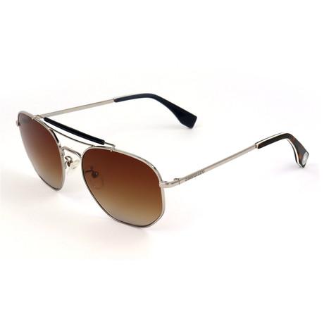Unisex SCO1385-579G Sunglasses // Palladium + Brown