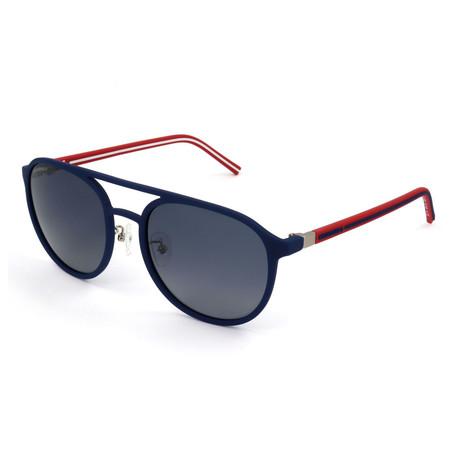 Men's Polarized SCO1455-AGQP Sunglasses // Matte Transparent Blue
