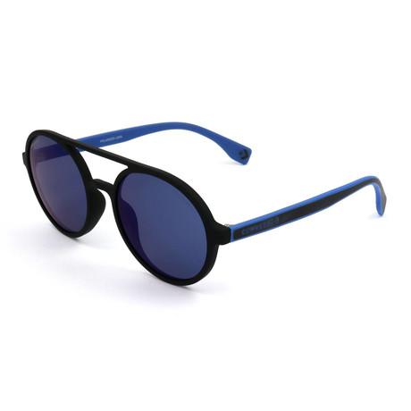 Men's Polarized SCO1925-6AAZ Sunglasses // Rubberized Black + Blue