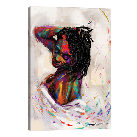 "For Colored Girls // Chuck Styles (18""W x 26""H x 1.5""D)"