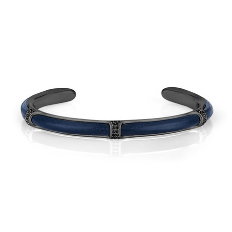 Embellished Bangle // Smoke + Navy Blue
