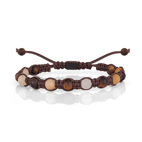 Beaded Shamballa Bracelet // Brown