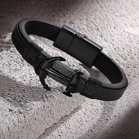 Anchor Bracelet // Black