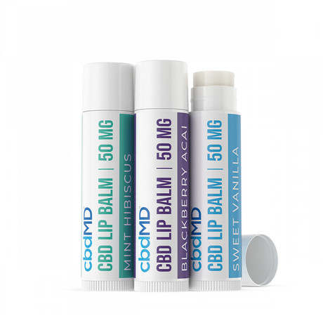 CBD Lip Balm // Mixed Pack of 3 // 50mg