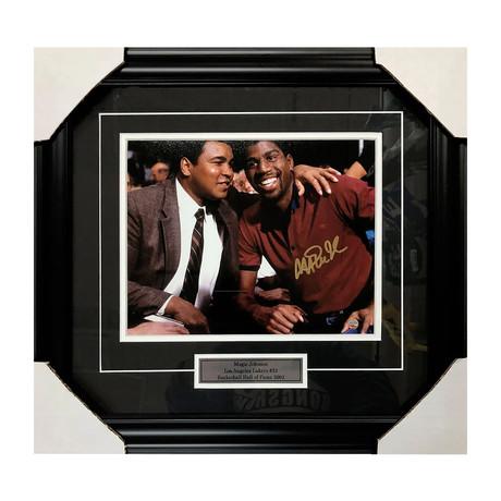 Magic Johnson and Muhammad Ali // Los Angeles Lakers // Autographed
