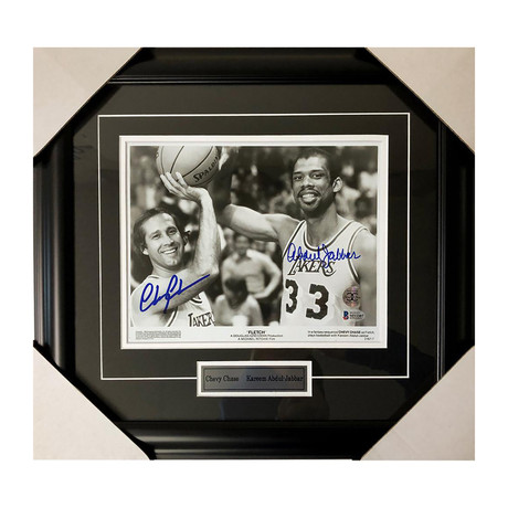 """Chevy Chase and Kareem Abdul-Jabbar // """"Fletch"""" // Autographed"""
