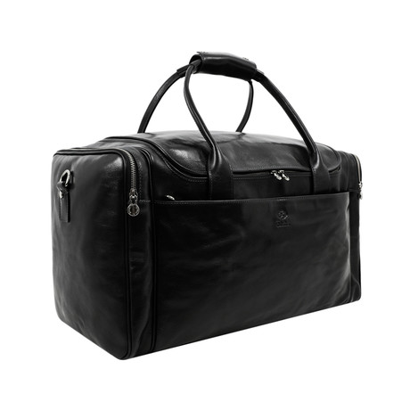 The Hitchhikers Guide To The Galaxy // Leather Duffel Bag // Black