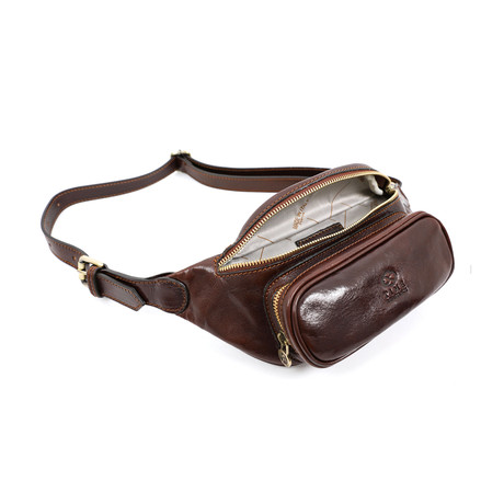 Independent People // Leather Belly Bag // Brown