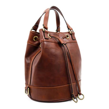 Light in August // Leather Backpack Shoulder Bag // Brown