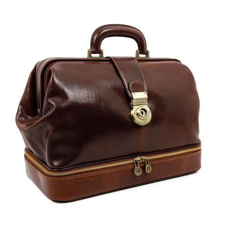 Northern Lights // Leather Doctor Bag // Brown