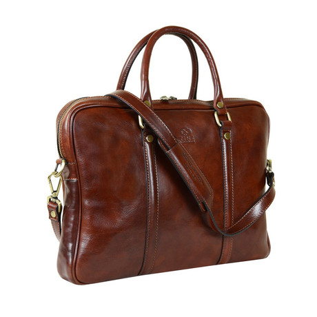 The Hobbit // Leather Laptop Bag // Brown