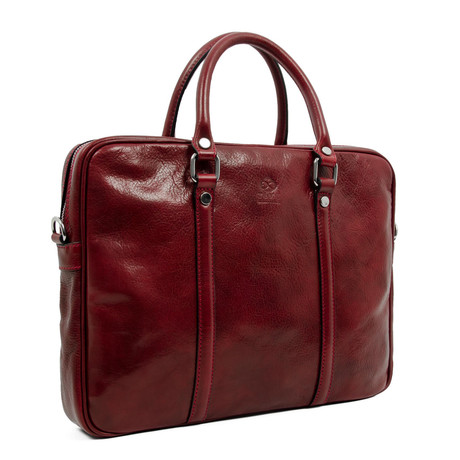The Hobbit // Leather Laptop Bag // Red