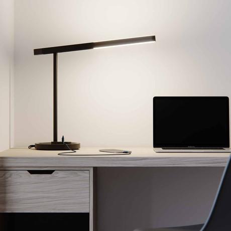 LUX Highline Desk Lamp (Matte Black + Black Chrome)