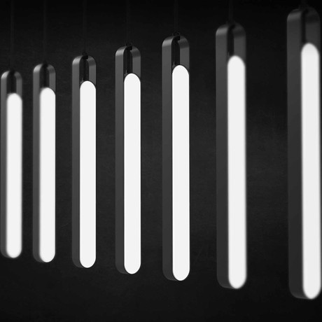 LUX Highline Pendant Light // Single (Black Chrome)