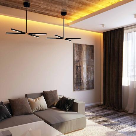 LUX Highline Ceiling Light (Black Chrome)