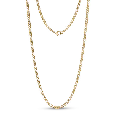 """Curb Link Necklace // 3.5mm // Gold Plated (16"""")"""