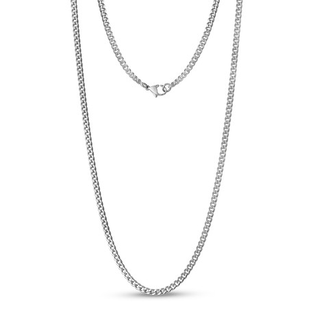 """Curb Link Necklace // 3.5mm // Steel (16""""L)"""