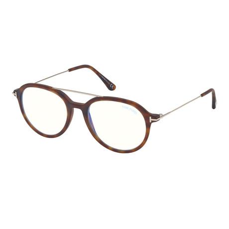 Men's Pilot Blue Light Blocking Glasses V1 // Havana + Gold