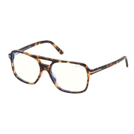 Men's Pilot Blue Light Blocking Glasses // Havana