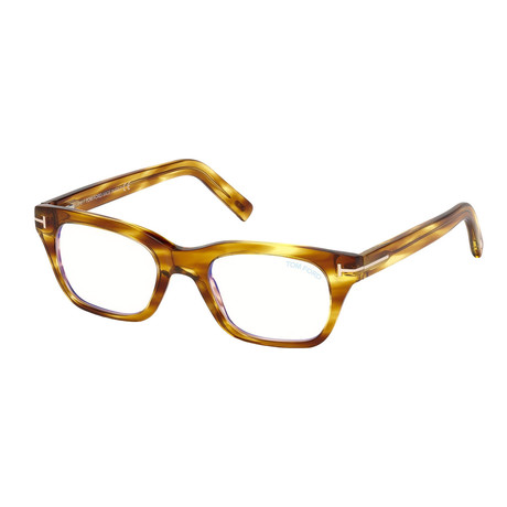 Men's Rectangle Blue Light Blocking Glasses // Shiny Brown