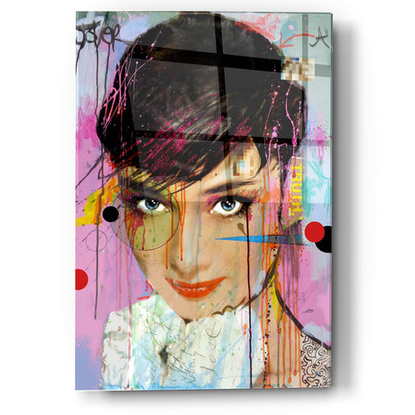 "Audrey On Ice (12""W x 16""H x 0.13""D)"