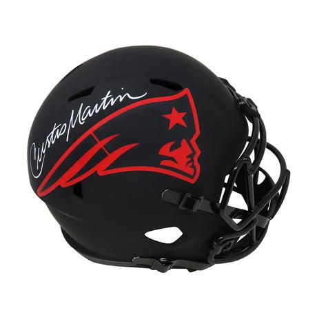 Curtis Martin // New England Patriots // Signed Riddell Full Size Speed Replica Helmet // Eclipse Black Matte