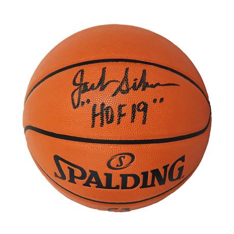 "Jack Sikma // Signed Spalding Game Series Replica NBA Basketball // ""HOF'19"" Inscription"