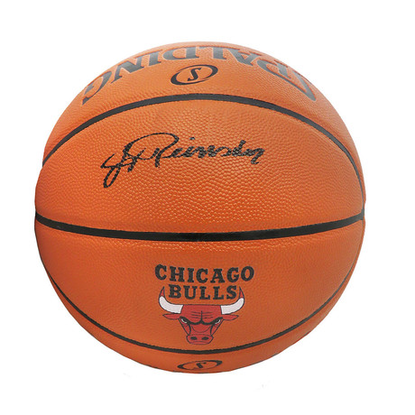 Jerry Reinsdorf // Signed Spalding Chicago Bulls Basketball