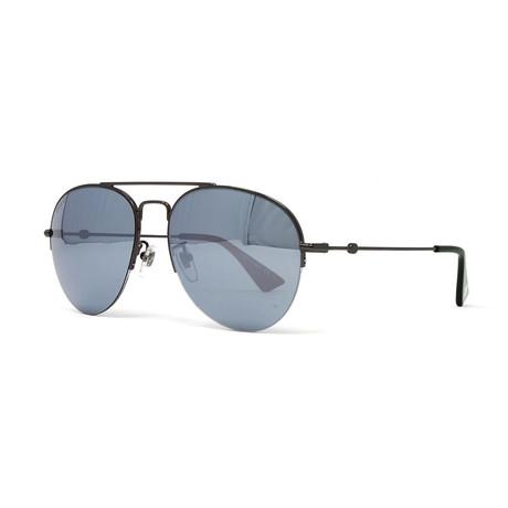 Men's GG0107S Sunglasses // Ruthenium + Gray Silver Mirror