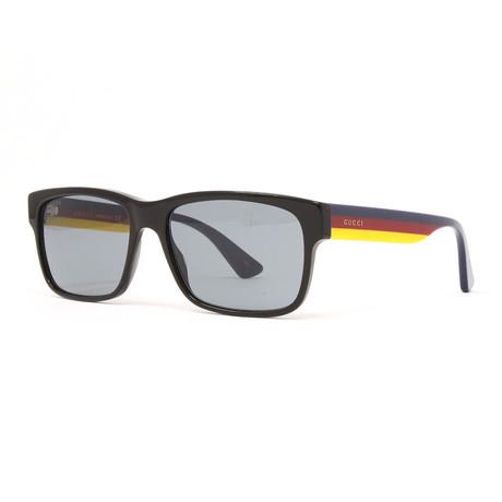 Men's GG0340S Sunglasses // Black + Multicolor