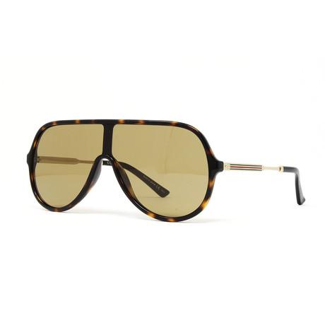 Men's GG0199S Sunglasses // Havana + Gold