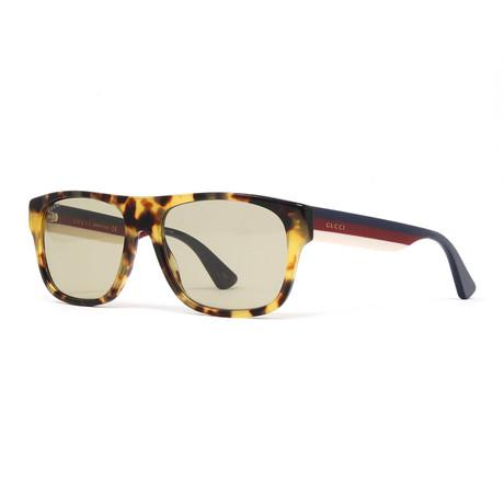 Men's GG0341S Sunglasses // Havana + Multicolor