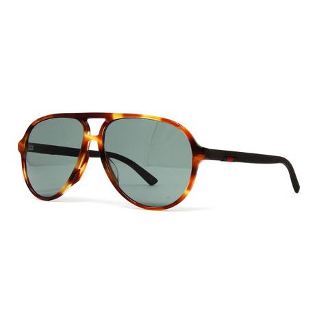 Men's GG423SA Sunglasses // Havana + Green