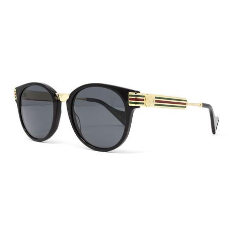 Men's GG0586S Sunglasses // Black + Gold