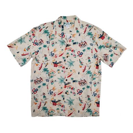 Vintage Aloha Shirt // Cream (Small)