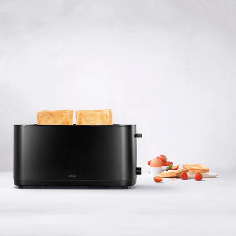 Enfinigy 4 Long Slot Toaster (Matte Silver)