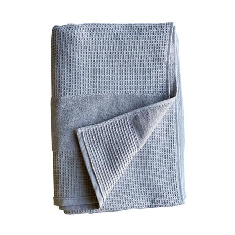 Waffle Terry Bath Towel // 2 Piece Set (Pebble Gray)