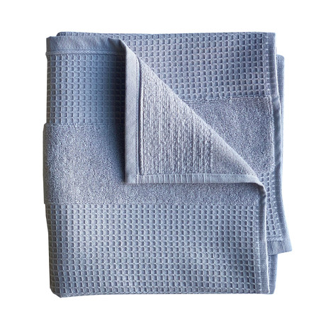 Waffle Terry Hand Towel // 4 Piece Set (Pebble Gray)