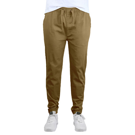 Cotton Stretch Twill Joggers // Timber (S)