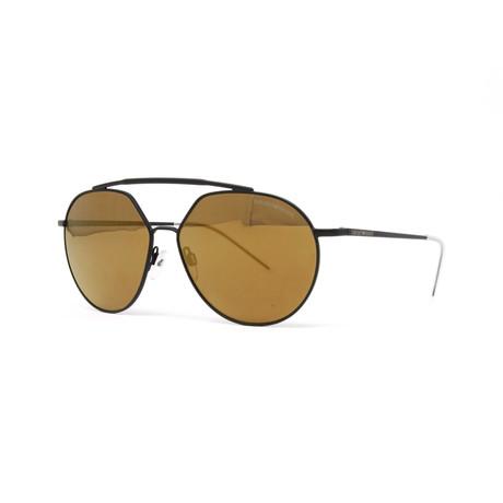 Emporio Armani // Men's EA2070 Sunglasses // Matte Black + Bronze