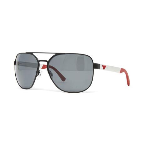 Emporio Armani // Men's EA2064 Polarized Sunglasses // Matte Black + Gray